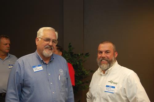 Mayor Rick Mueller & Chris Robinson, Exec VP Semper Valens Solutions