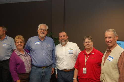 Mayor Rick Mueller and Past Mayor Bob Strain with Semper Valens Susan McCathern (Director of Security) and Chris Robinson (Exec Vice-President)