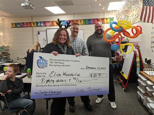 Blue Springs Education Foundation Teacher Surprise