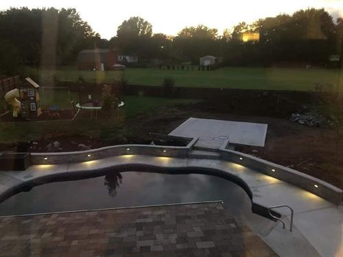 Pool Deck & Sitting Wall