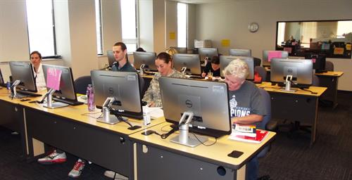 Computer lab for student use as well as proficiency and licensure testing.