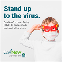 CareNow® Urgent Care clinics now offer COVID-19 diagnostic testing and antibody testing to the community