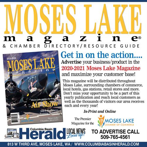 Advertise your product/services in the Moses Lake Magazine and Chamber Directory/Resource Guide