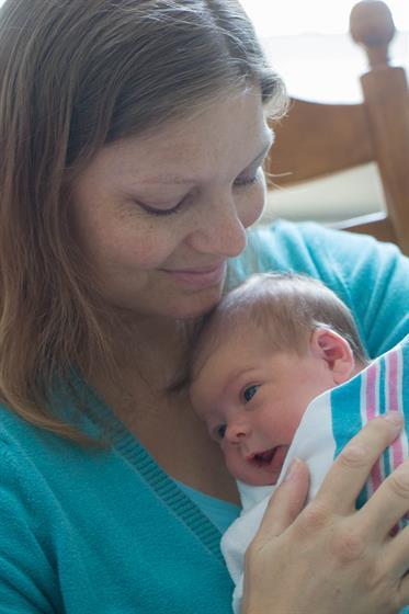 Mom & Baby in Maternity