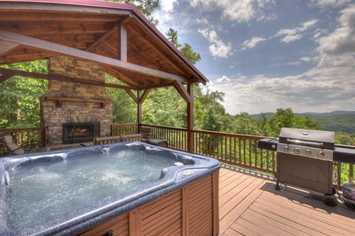 Many of our cabins have outdoor fireplace and fire-pits...be sure to bring the marshmallows