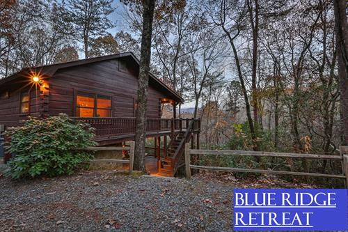 1BR/1BA romantic mountain top cabin in Cherry Log. Pet-friendly. New to Blue Sky 11/20/19