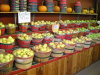 Apples in the Red Apple Barn Farm Store