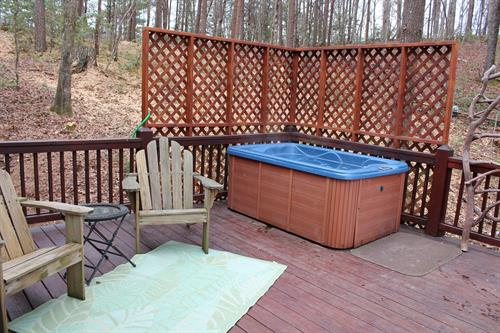 Relax in the hot tub