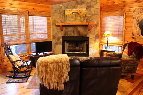 Relax in front of the gas fireplace