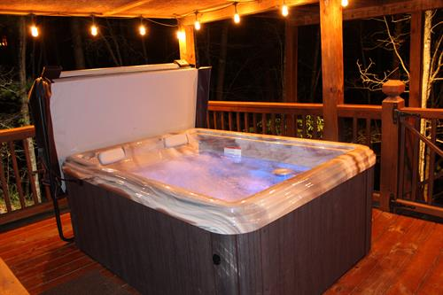 Finish the day with a relaxing soak in the hot tub