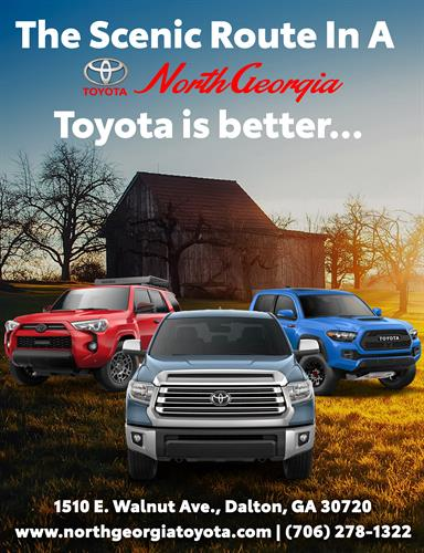 The Scenic Route is always better in a brand NEW North Georgia Toyota Truck or SUV!