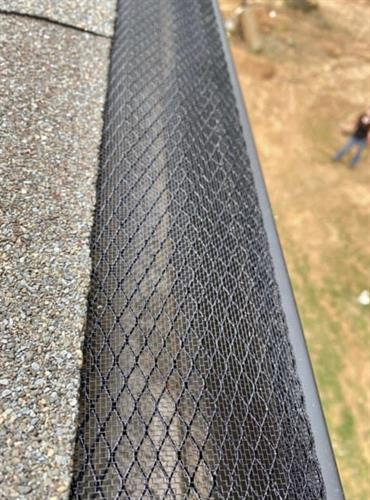 "The best gutter guard on the market!  This product is a combination of expanded metal base powder coated and topped with 18"" mesh screen for superior performance.  Give us a call today to get your free quote!"