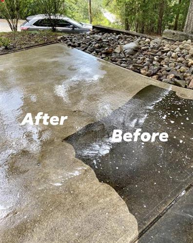 We would be happy to help you keep your driveway and decks looking there best!