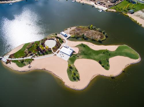 The Island at Pelican Lakes has hosted events such as weddings, corporate parties, family gatherings and town functions.