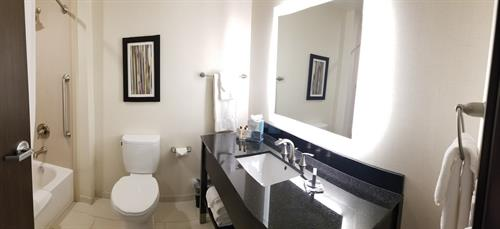 Wingate by Wyndham Loveland double queen guest bathroom