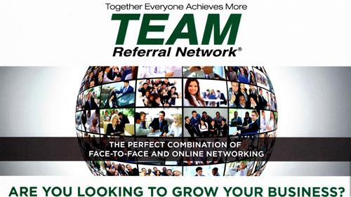 TEAM Referral Network Logo and  Brochure Front