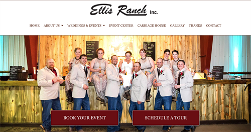Ellis Ranch Wedding and Event Center website redesign. Best wedding venue in Loveland. Check out their website.
