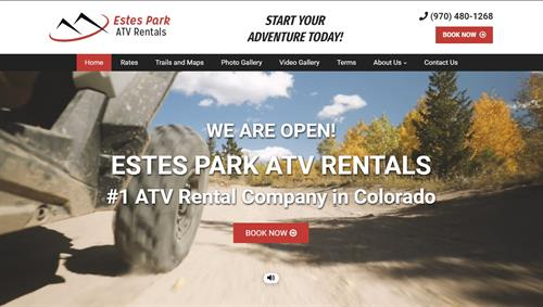 Estes Park ATV Rentals website redesign by DaGama Digital Marketing. Check it out: video on the homepage draws you in. Easy to book a Polaris Adventure experience.