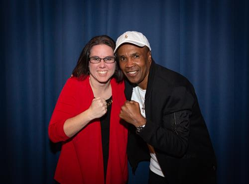 Ambar with Sugar Ray Leonard
