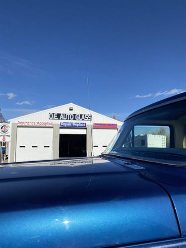 Brand New OE windshield in this classic blue Ford