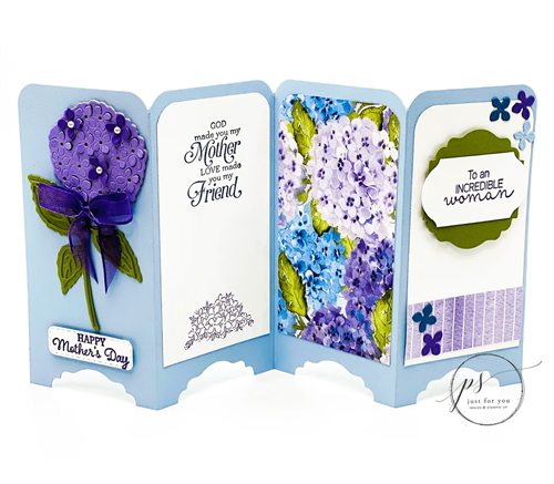 HYDRANGEA HAVEN SCREEN DIVIDER CARD