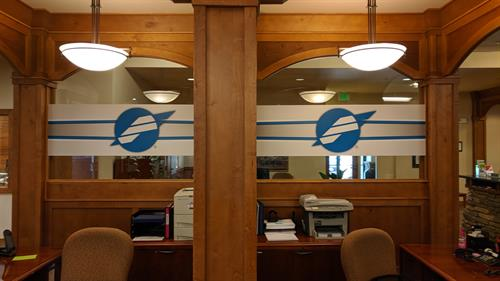 Window Decals at First Advantage Bank
