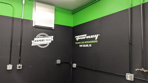 Wall Graphics on Powder Coated Steel for Forney