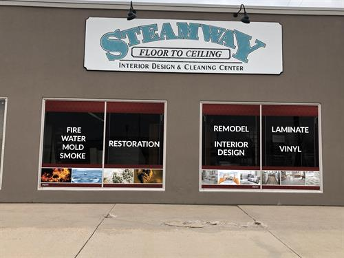 Steamway Floor To Ceiling Window Decal