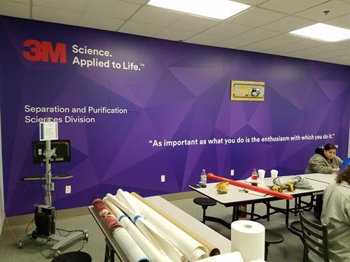 3M Meriden training room, employee motivation and branding