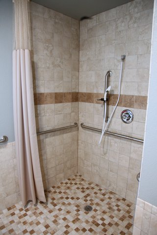 All of our resident rooms come with their own private shower