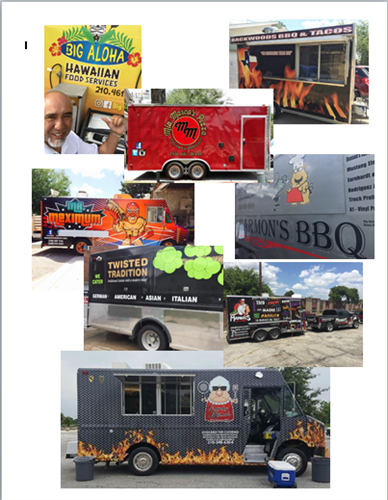 Supporting local food trucks.