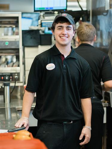 Alec McNeil is always ready to serve our guests with a smile