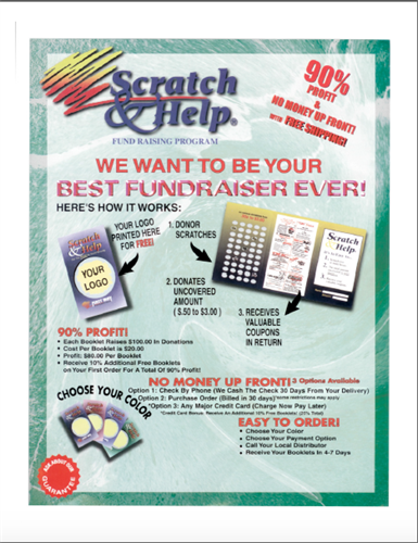 High Profit Scratch & Help Fundraiser up to 90% Profit