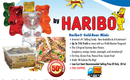 Haribo Gummy Bears Candy Fundraiser