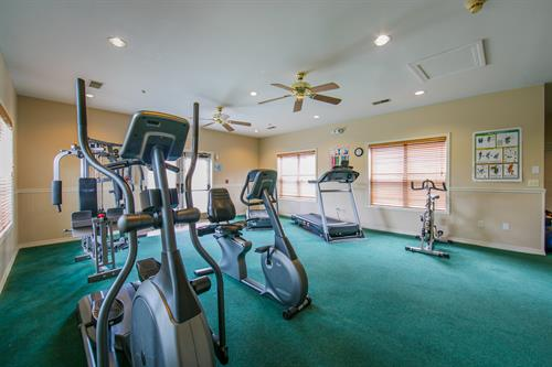 Workout in our onsite fitness center