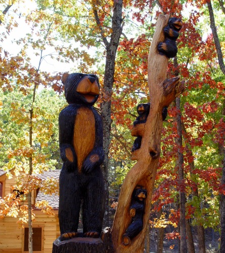 Bear Carvings Abound