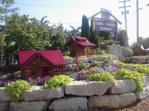 Corner Sign and Flower Bed