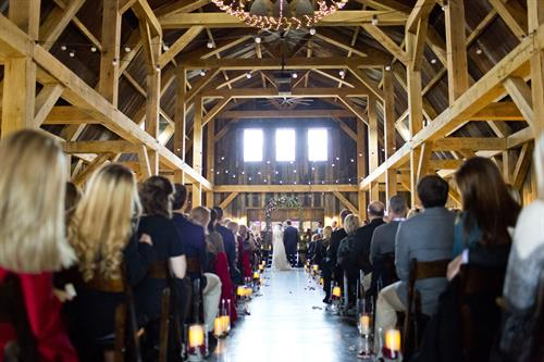 Winter Wedding at the Barn - Mary Fields Photography
