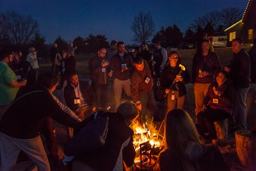 Corporate Event at Fire Pit - TGC Photography