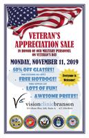 Veteran's Appreciation Sale