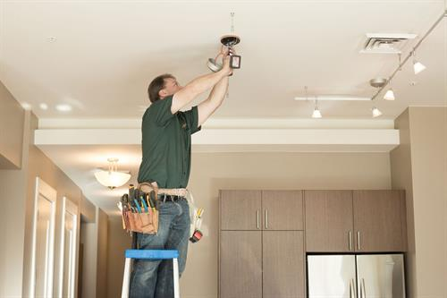 Our electrician's are ready to help you with any project in your home.