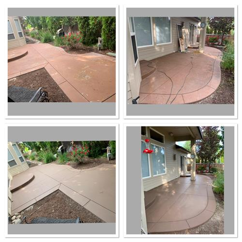 Concrete coating:before and after