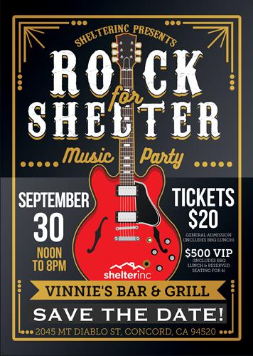 ROCK for SHELTER 2018!