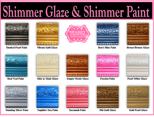 Shabby Paint Shimmers & Glazes