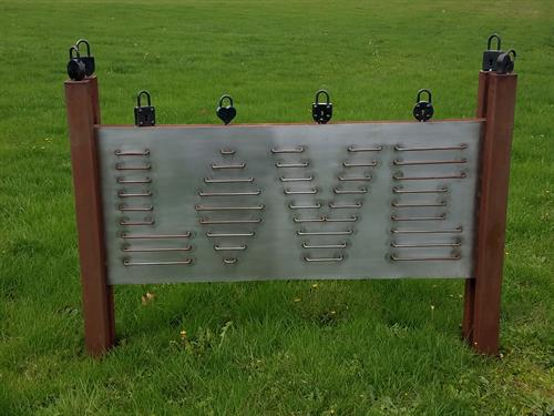 Prototype of McMinnville Love Locks