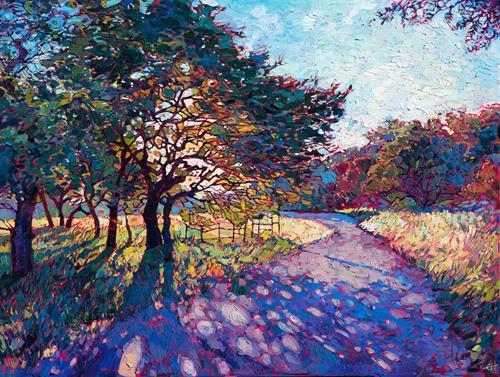 """Crystal Path"" OIL ON CANVAS by Erin Hanson"