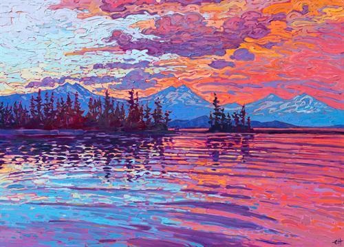 """Oregon Cascades"" OIL ON CANVAS by Erin Hanson"