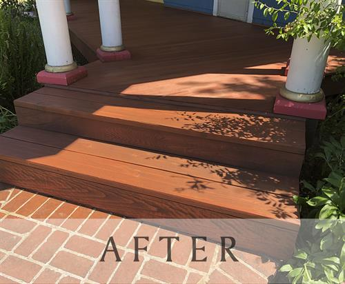 After pressure wash, seal, and stain