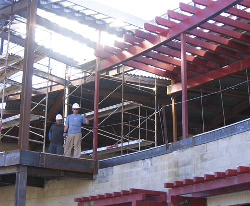 Project management for structural steel construction phase of the San Fernando Pool Park