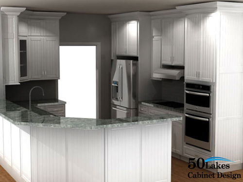 2020 rendering - kitchen with peninsula